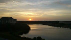 Ядровый заход солнца Стоковые Изображения RF