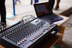 Ядровый пульт управления смесителя музыки Стоковые Изображения