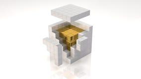 Ядр золота иллюстрация штока