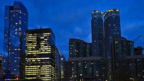 ядр ` s 4K UltraHD Timelapse Торонто городское после наступления темноты акции видеоматериалы