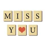 Я скучаю по вам. Стоковое Изображение RF
