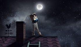 Я стану астронавтом и мухой к космосу Мультимедиа стоковое фото