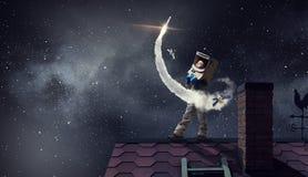 Я стану астронавтом и мухой к космосу Мультимедиа стоковая фотография