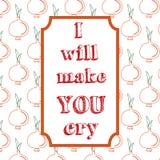 Я сделаю вас заплакать Предпосылка цитаты типографская Стоковые Фото