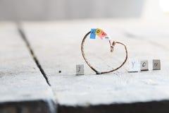 Я тебя люблю концепция - романтичная литерность сделанная вручную Стоковое Фото