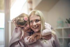 Я тебя люблю мама мать дочи домашняя Стоковые Фото