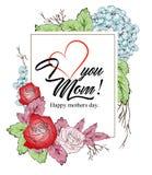 Я тебя люблю, предпосылка мамы стоковое изображение