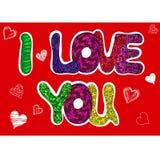 Я тебя люблю слова установленные для поздравительной открытки Стоковое фото RF