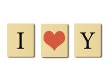Я тебя люблю. Стоковая Фотография