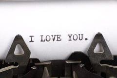 я тебя люблю Стоковые Изображения RF