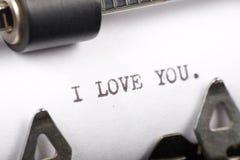 я тебя люблю Стоковое Изображение