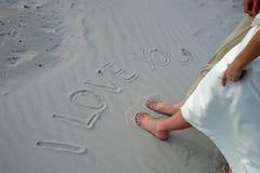 я тебя люблю Стоковая Фотография