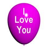 Я тебя люблю воздушный шар представляет любовников и пар Стоковые Фотографии RF