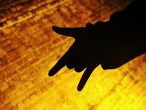Я тебя люблю знак руки Стоковое Изображение