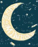 Я тебя люблю к луне и задней части Стоковые Изображения