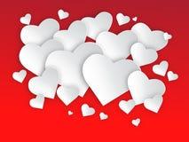 Я тебя люблю - сердца Иллюстрация штока