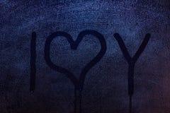 Я тебя люблю символ Стоковое Изображение RF