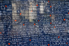 Я тебя люблю стена Парижа (t'aime je Le mur des) в Париже, Франции Стоковые Фотографии RF