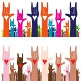 Я тебя люблю язык жестов Стоковое Изображение
