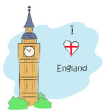 Я люблю Англию Бесплатная Иллюстрация