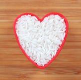 Я люблю белый рис Стоковые Изображения