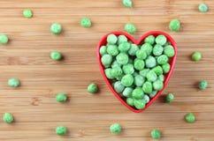 Я люблю зеленые горохи Стоковое Изображение