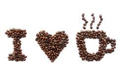Я люблю кофе Стоковая Фотография