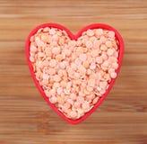 Я люблю красные чечевицы Стоковые Фотографии RF