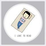 Я люблю к read1 Стоковые Фотографии RF