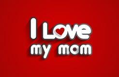 я люблю маму мою Стоковые Фотографии RF