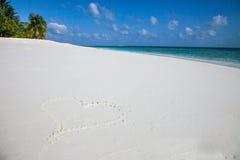 Я люблю Мальдивы стоковое изображение rf
