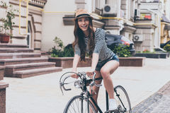 Я люблю мой велосипед! Стоковое фото RF
