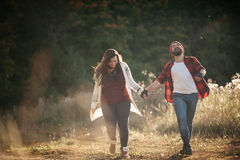 Я люблю побежать в поле Стоковое Фото