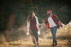 Я люблю побежать в поле Стоковое Изображение