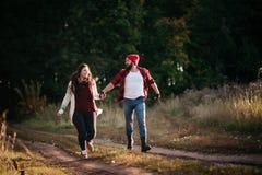 Я люблю побежать в поле Стоковые Фото