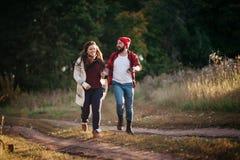 Я люблю побежать в поле Стоковые Изображения