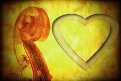 Я люблю предпосылку музыки Стоковая Фотография RF