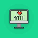 Я люблю символ математики Стоковые Фото