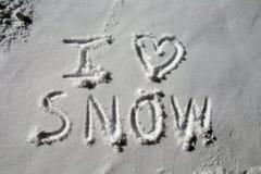 я люблю снежок Стоковое Изображение
