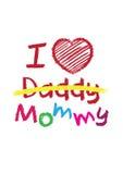 Я люблю футболку мамы Стоковое Изображение