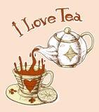 Я люблю чай Стоковое Изображение