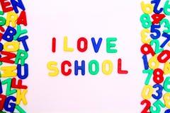 я люблю школу Стоковые Изображения RF
