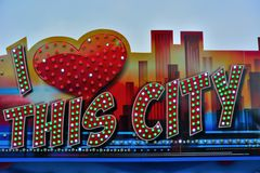 Я люблю этот город Стоковое Изображение