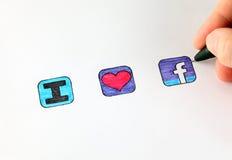 Я люблю facebook Стоковое Изображение RF