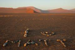 Я люблю Matt, национальный парк Sossusvlei, Намибию Стоковые Фотографии RF