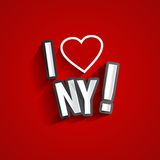 я люблю New York Стоковые Фото