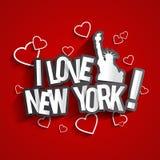 я люблю New York Стоковое Фото