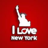 я люблю New York Стоковая Фотография