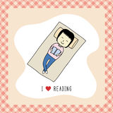 Я люблю reading1 Стоковое фото RF