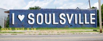 Я люблю Soulsville u S A Знак Стоковая Фотография RF